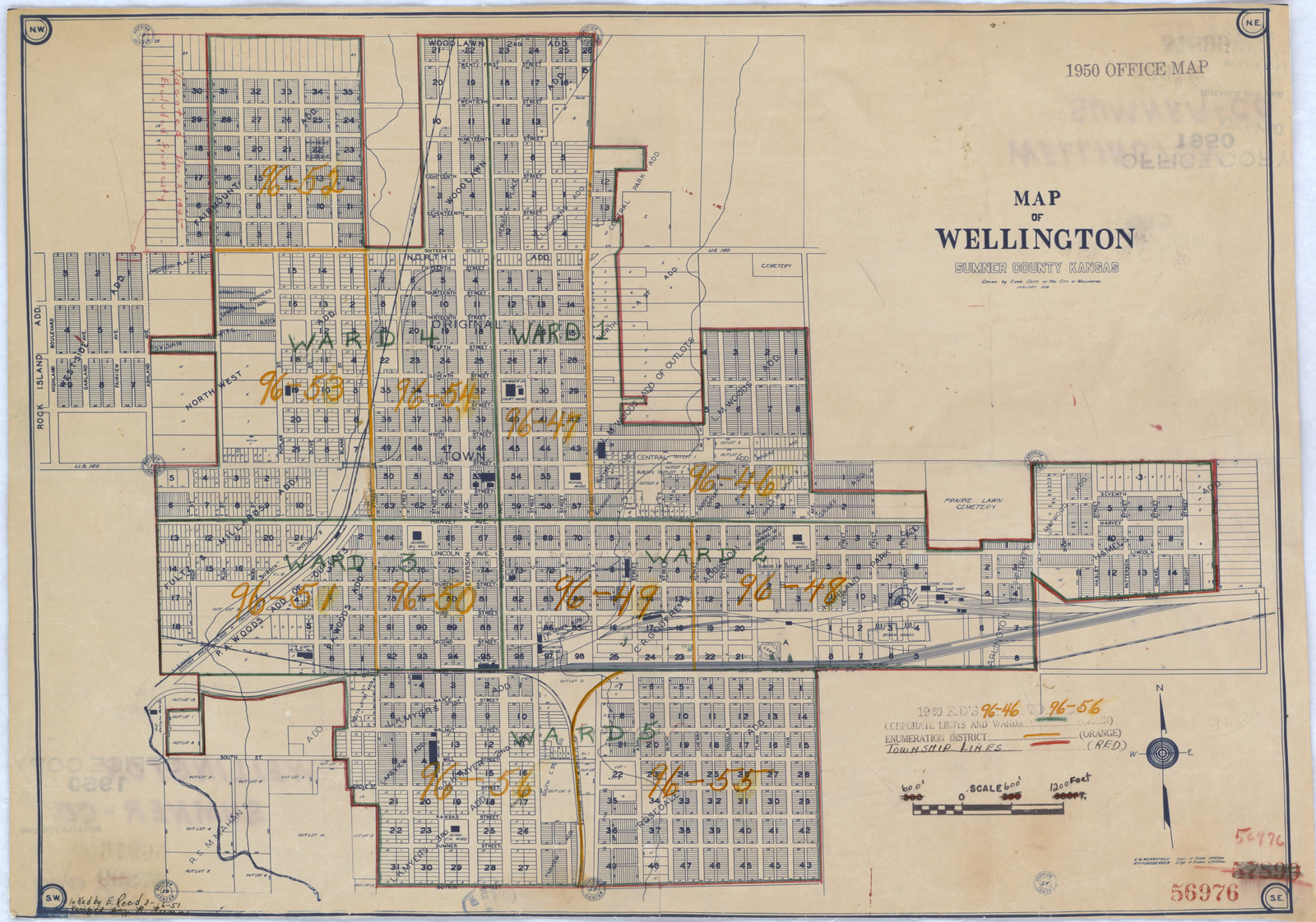 1950 Census Enumeration District Maps - Kansas (KS) - Sumner