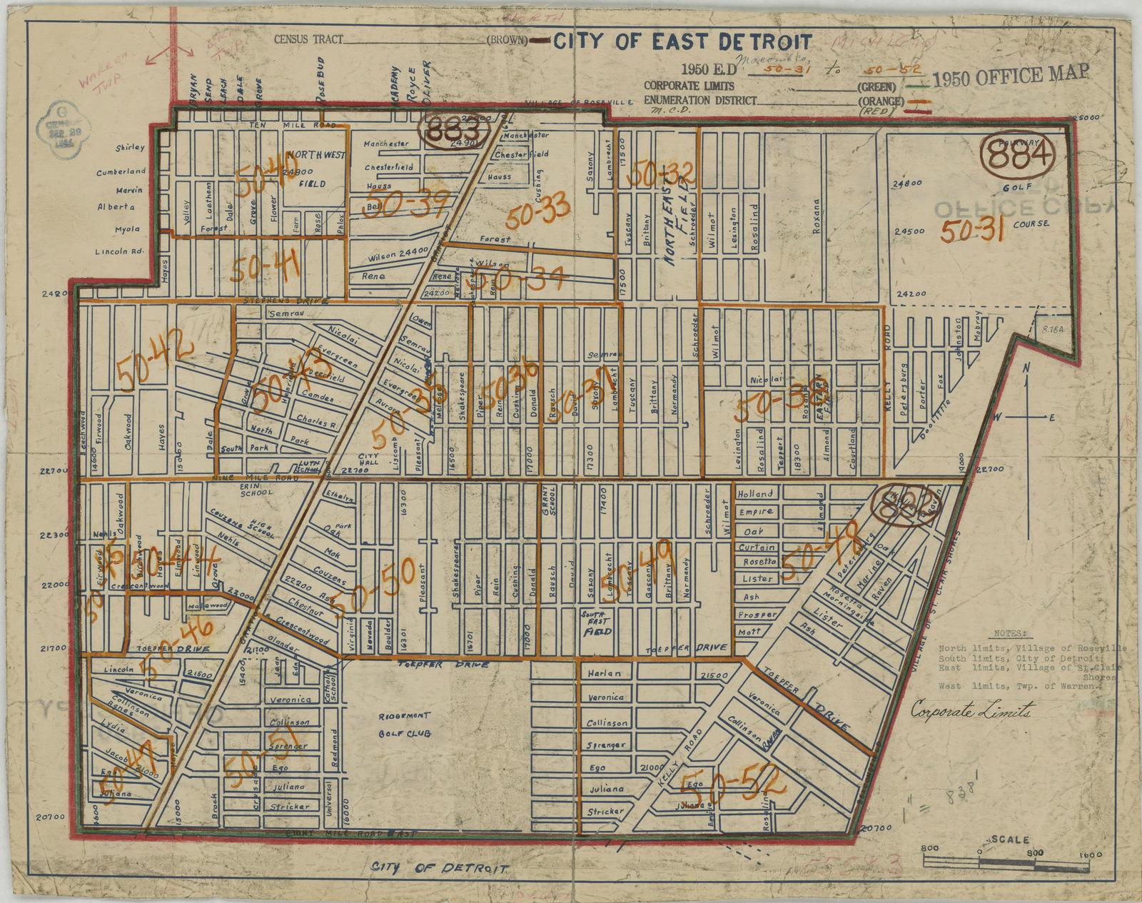 1950 Census Enumeration District Maps - Michigan (MI) - Macomb ...