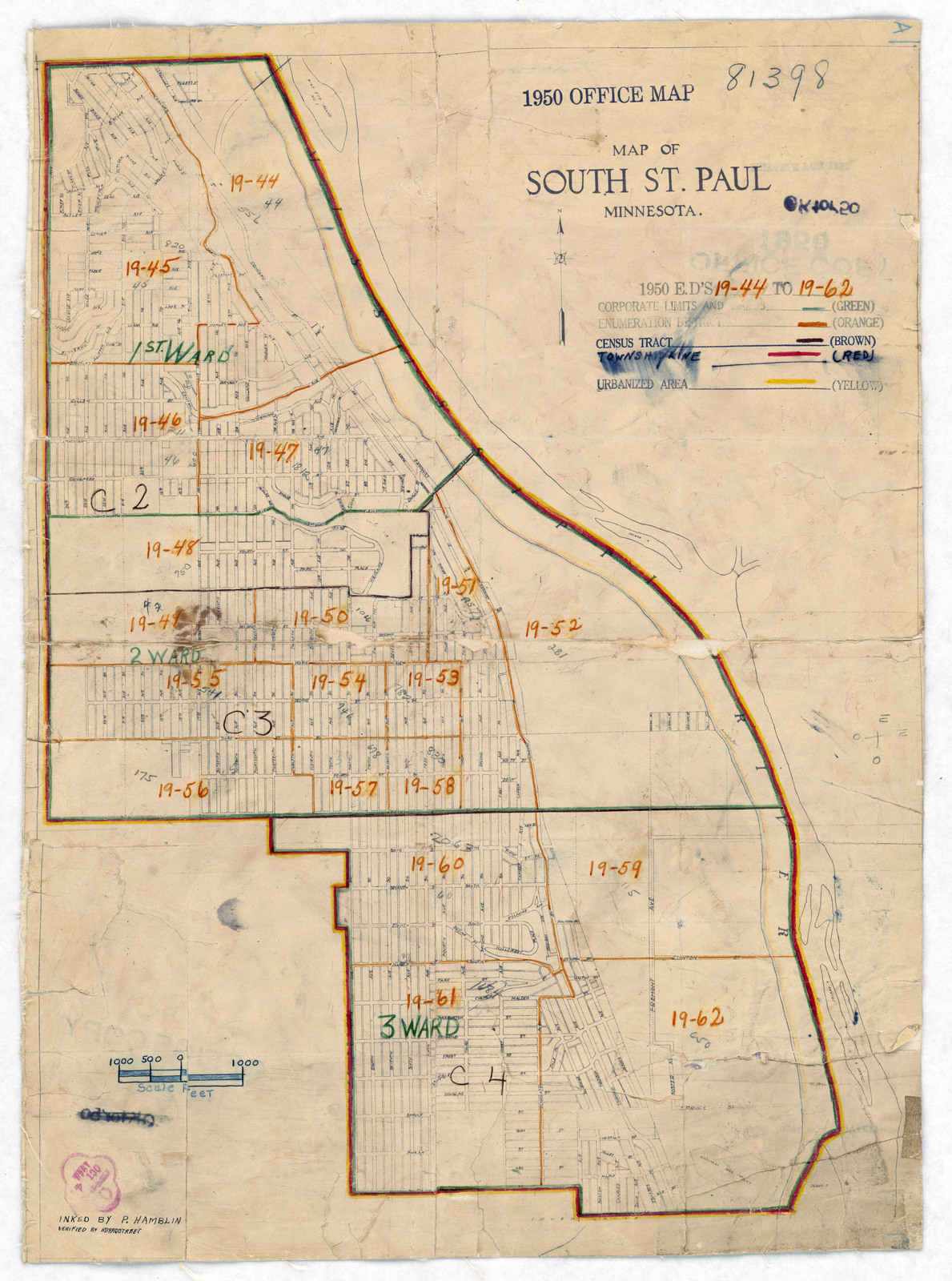 1950 Census Enumeration District Maps - Minnesota (MN) - Dakota ...