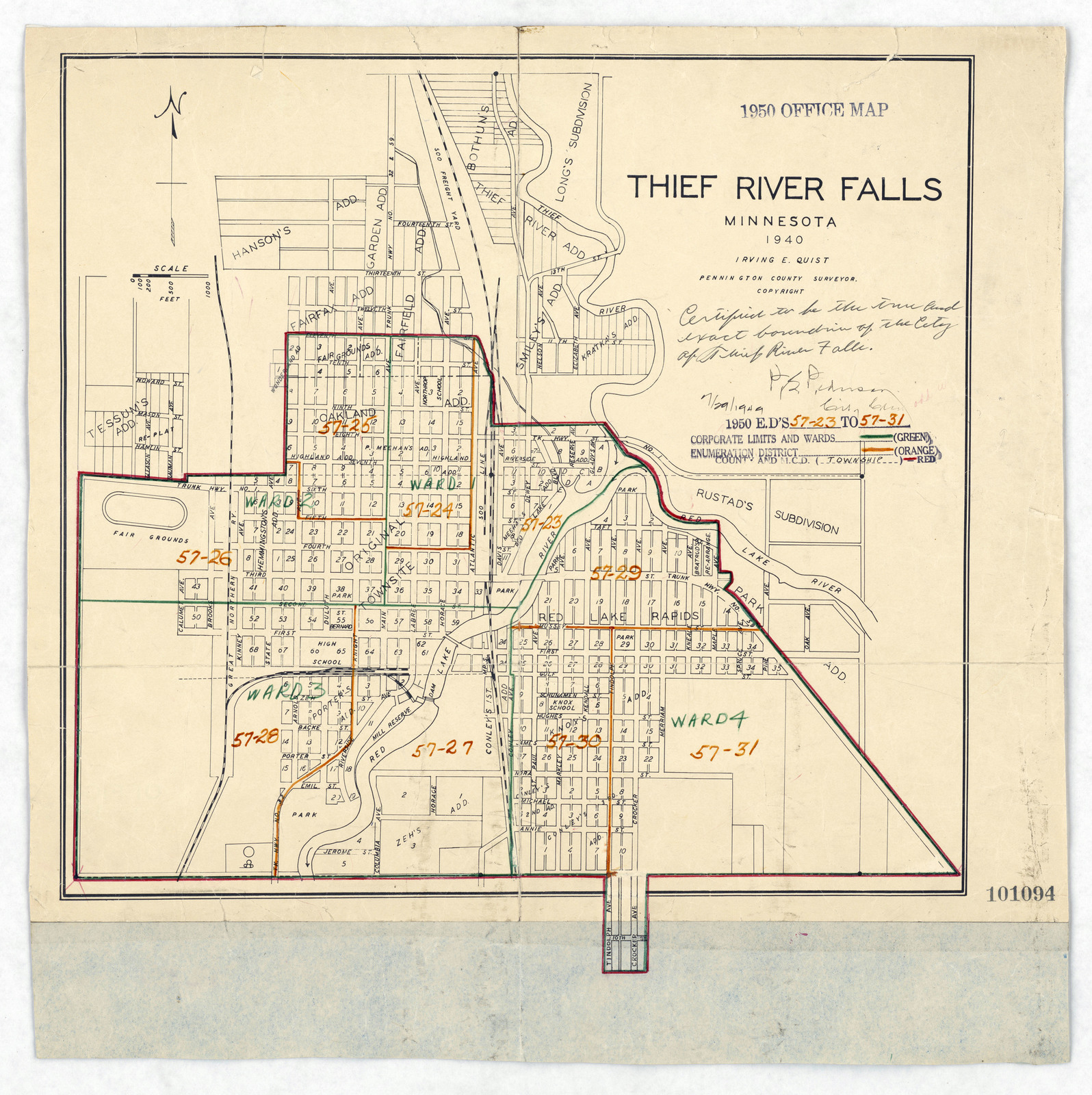 1950 Census Enumeration District Maps - Minnesota (MN) - Pennington ...