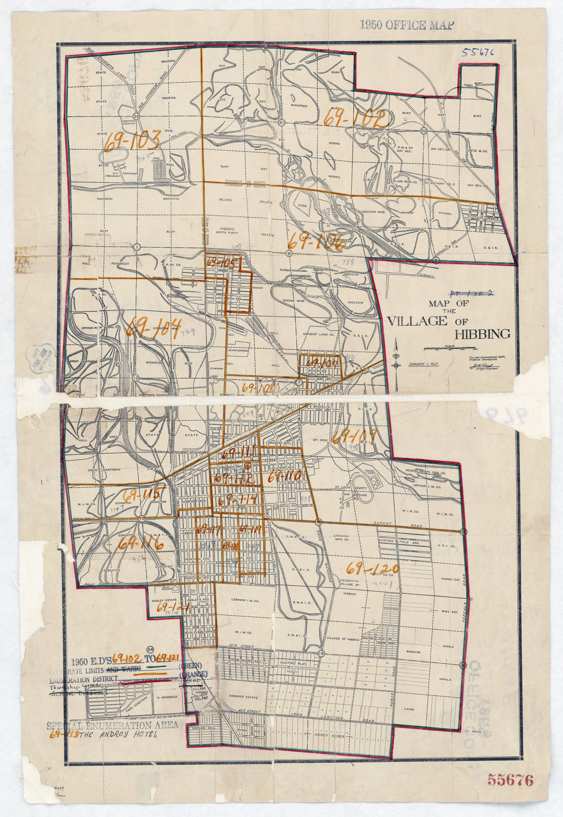 1950 Census Enumeration District Maps - Minnesota (MN) - St. Louis ...