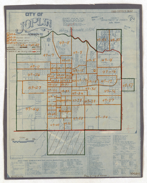 1950 Census Enumeration District Maps - Missouri (MO) - Jasper County - Joplin - ED 49-4 to 57