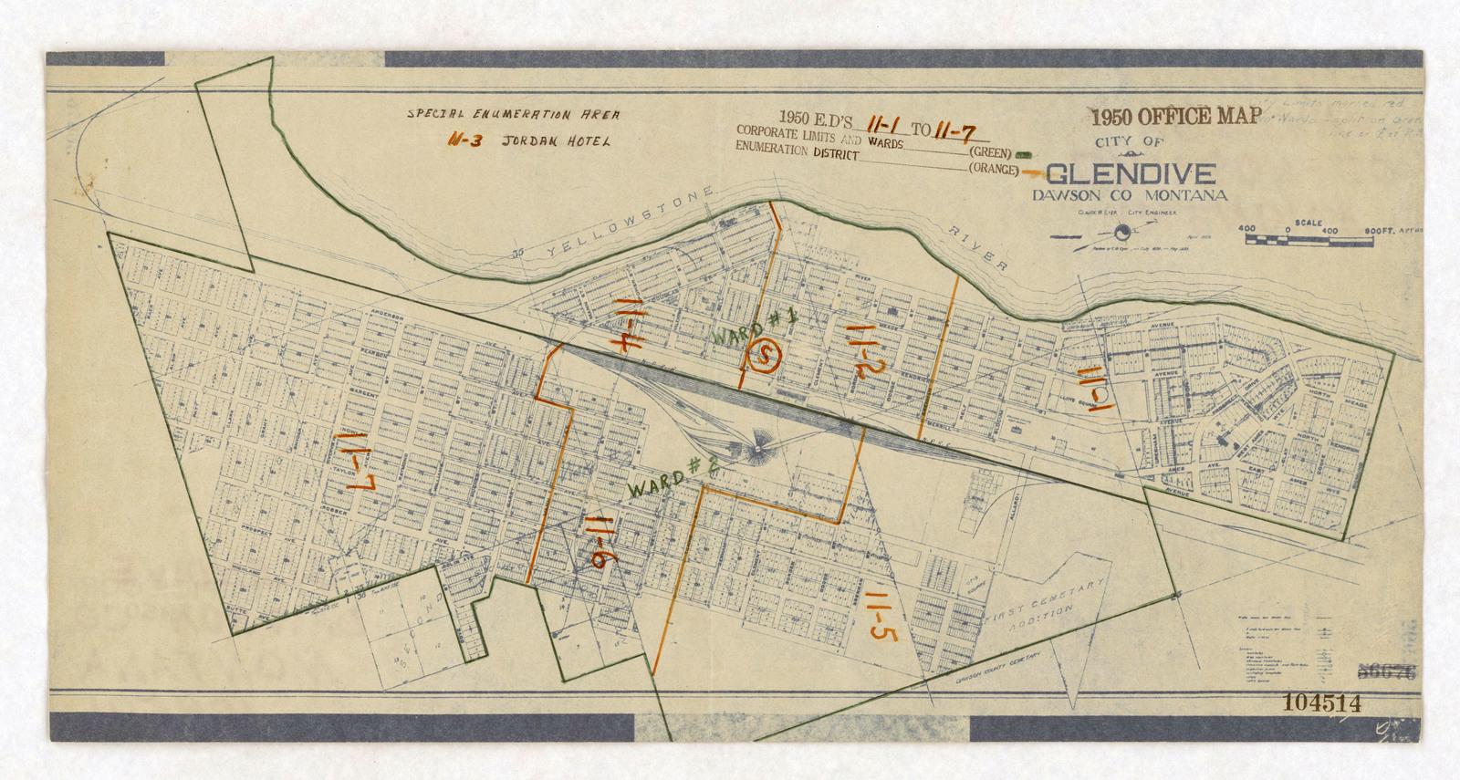 1950 Census Enumeration District Maps - Montana (MT) - Dawson County ...