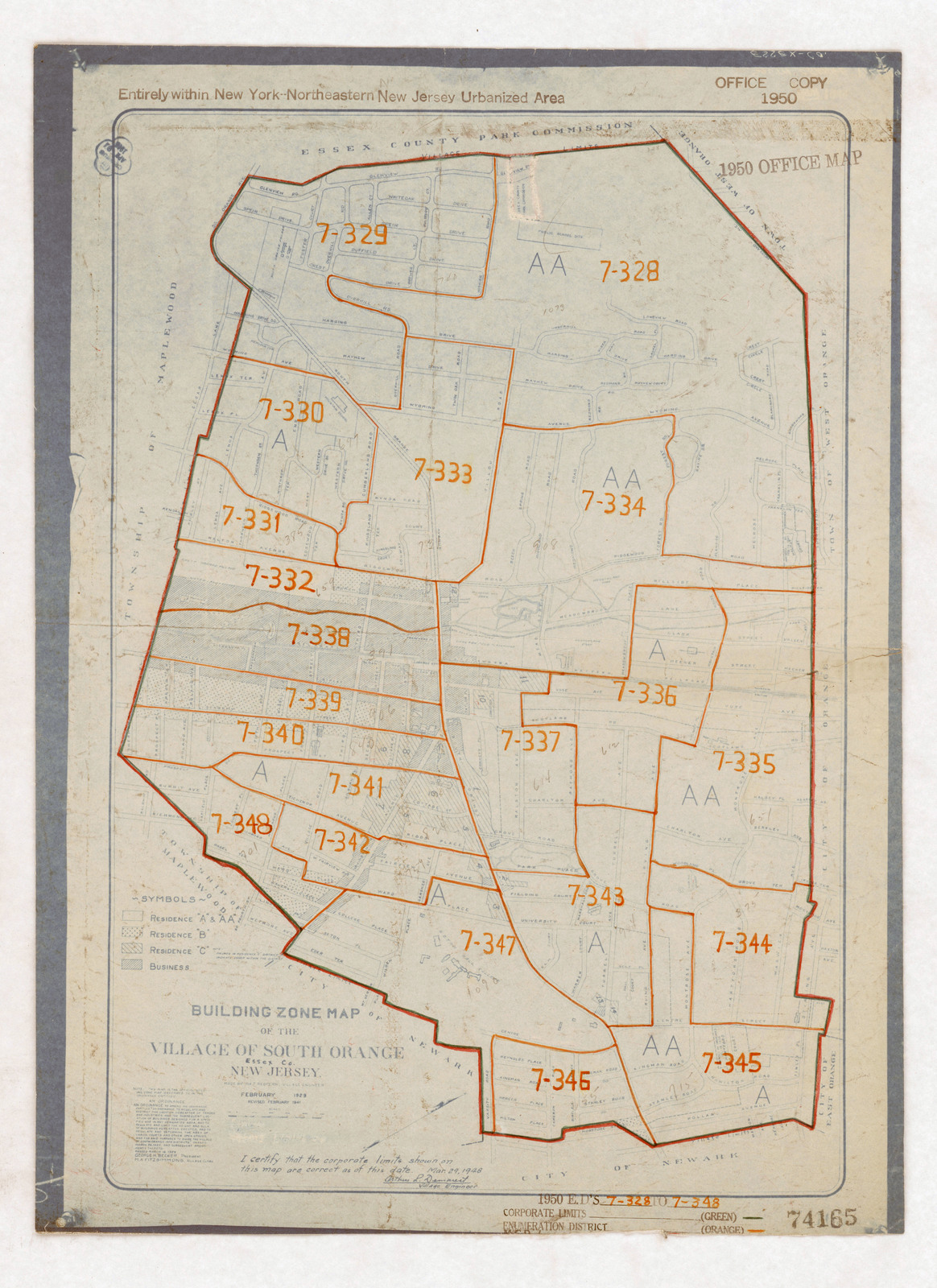 1950 Census Enumeration District Maps - New Jersey (NJ) - Es ... on