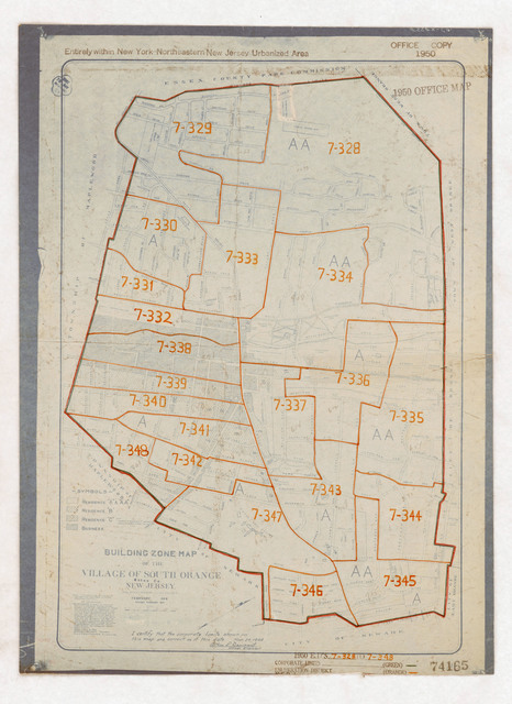1950 Census Enumeration District Maps - New Jersey (NJ) - Essex County - South Orange - ED 7-328 to 348