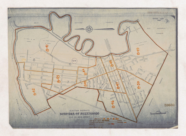 1950 Census Enumeration District Maps - New Jersey (NJ) - Gloucester County - Paulsboro - ED 8-41 to 50