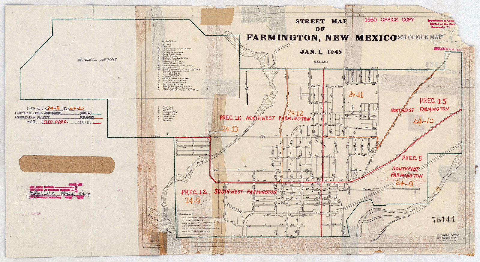 North New Mexico Map.1950 Census Enumeration District Maps New Mexico Nm San Juan