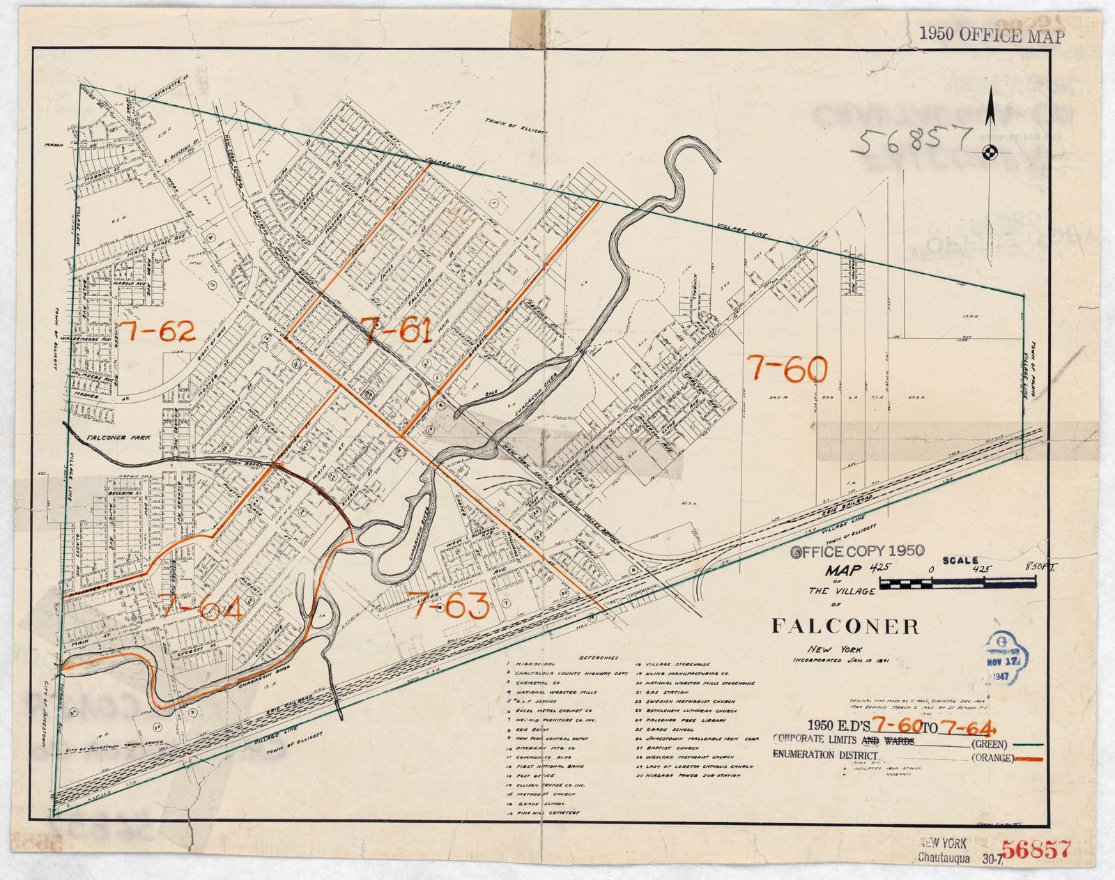 1950 Census Enumeration District Maps - New York (NY) - Chautauqua on
