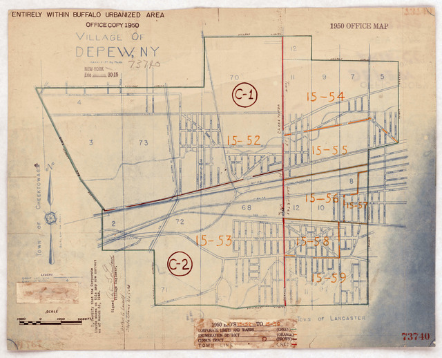 1950 Census Enumeration District Maps - New York (NY) - Erie County - Depew - ED 15-52 to 59