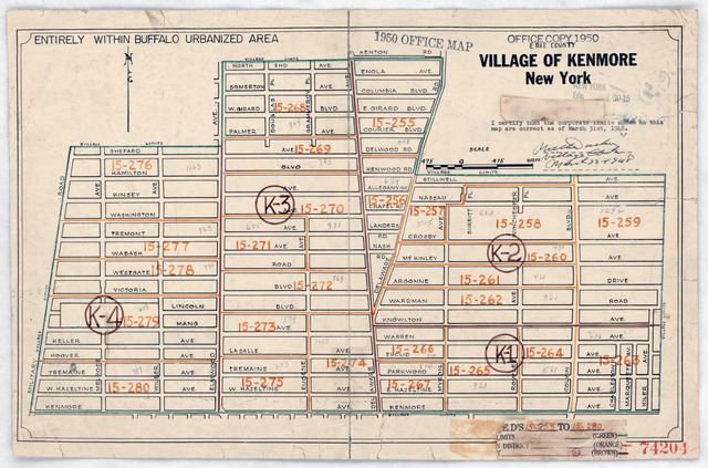 1950 Census Enumeration District Maps - New York (NY) - Erie County - Kenmore - ED 15-255 to 280