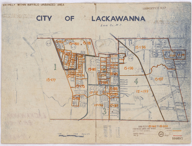 1950 Census Enumeration District Maps - New York (NY) - Erie County - Lackawanna - ED 15-160 to 200