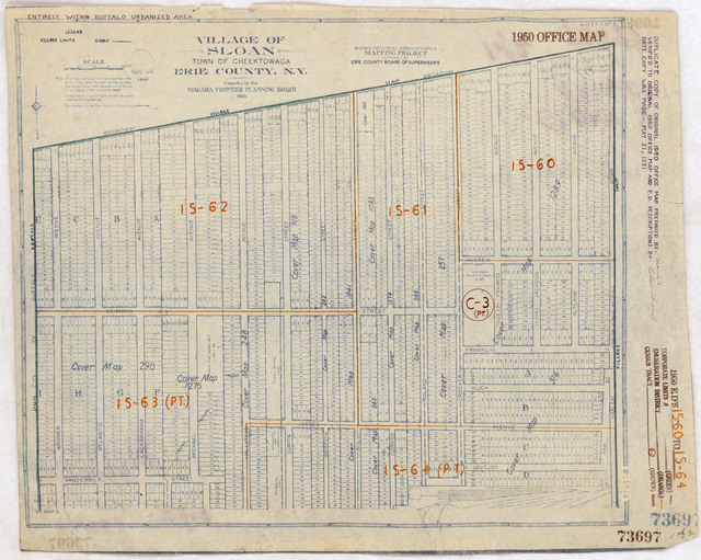 1950 Census Enumeration District Maps - New York (NY) - Erie County - Sloan - ED 15-60 to 64
