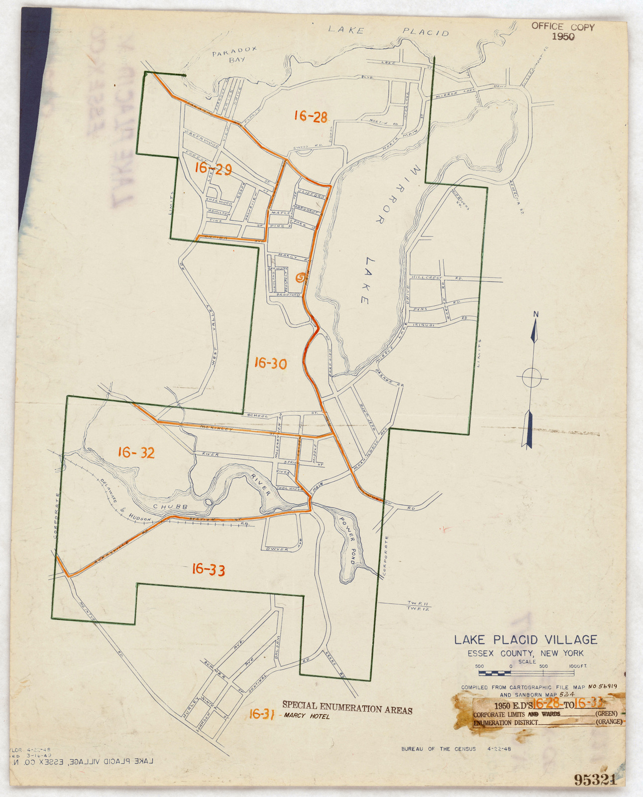 Lake Placid New York Map.1950 Census Enumeration District Maps New York Ny Essex County