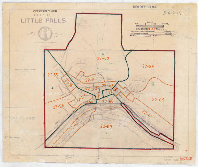 1950 Census Enumeration District Maps - New York (NY) - Herkimer County - Little Falls - ED 22-55 to 70