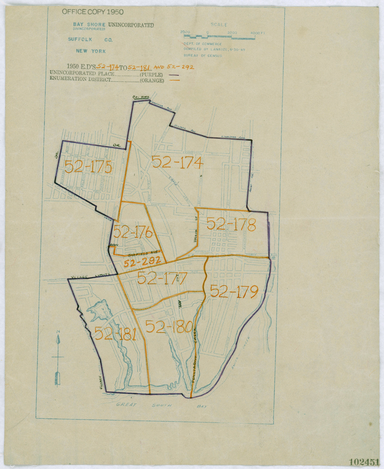 Suffolk County New York Map.1950 Census Enumeration District Maps New York Ny Suffolk