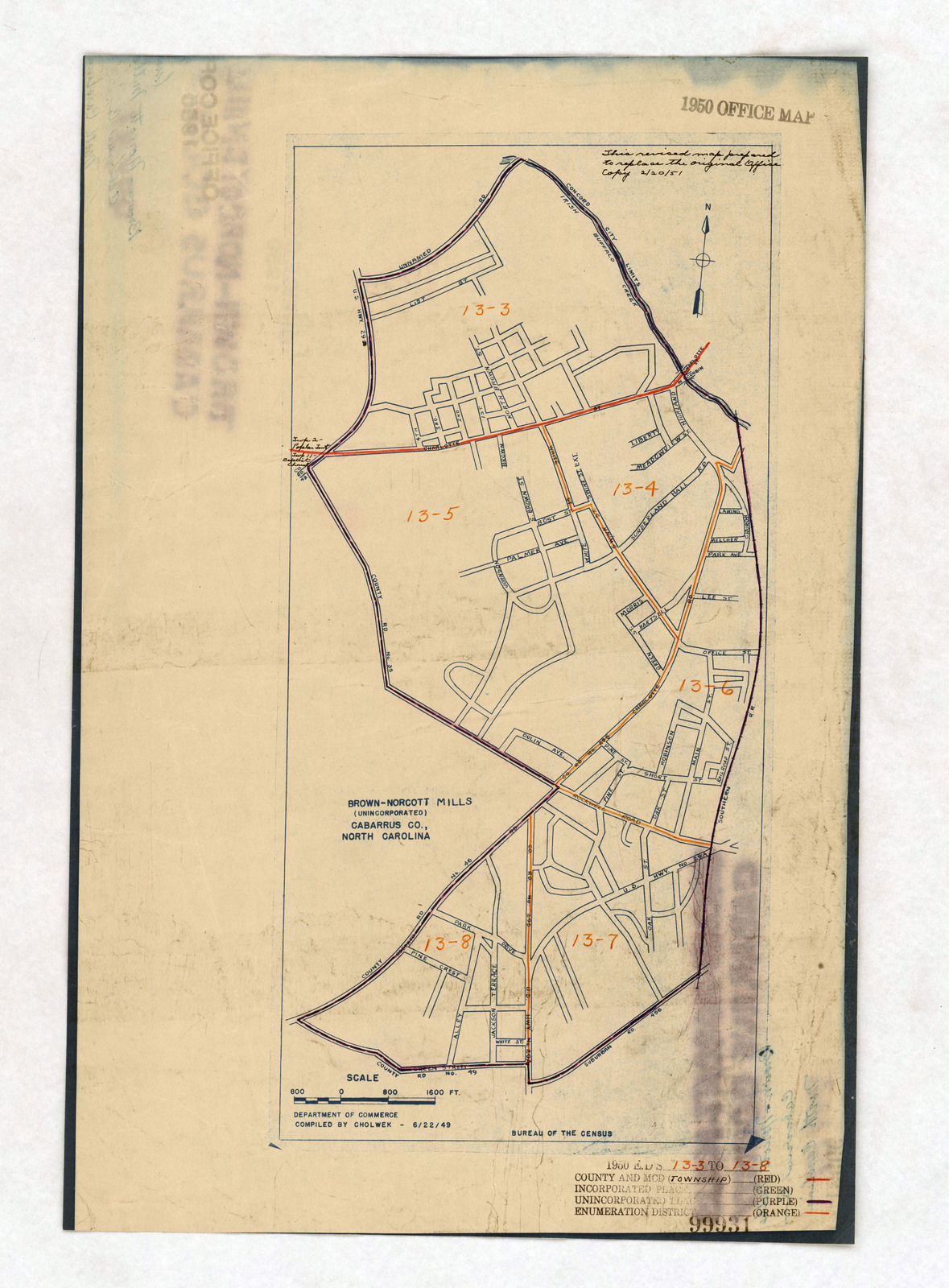 1950 Census Enumeration District Maps North Carolina Nc - Map-of-us-paper-mills