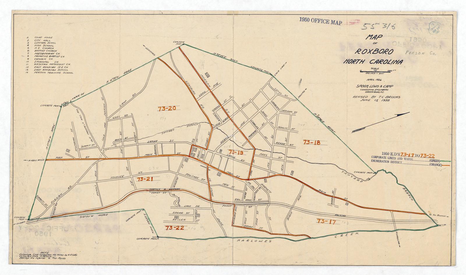 1950 Census Enumeration District Maps North Carolina Nc Person