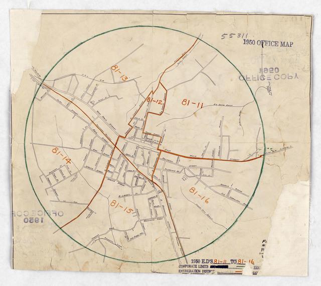 1950 Census Enumeration District Maps North Carolina Nc