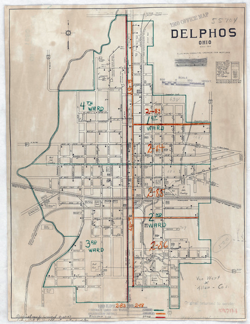 1940 Census Enumeration District Maps - Ohio - Van Wert ... on map of chesterland, map of chanute, map of fairborn, map of geneva on the lake, map of auglaize county, map of west carrollton, map of grandview heights, map of elyria, map of tiffin, map of canal fulton, map of celina, map of elgin, map of piqua, map of huber heights, map of chicago heights, map of holgate, map of canal winchester, map of oak hill, map of lima, map of wauseon,
