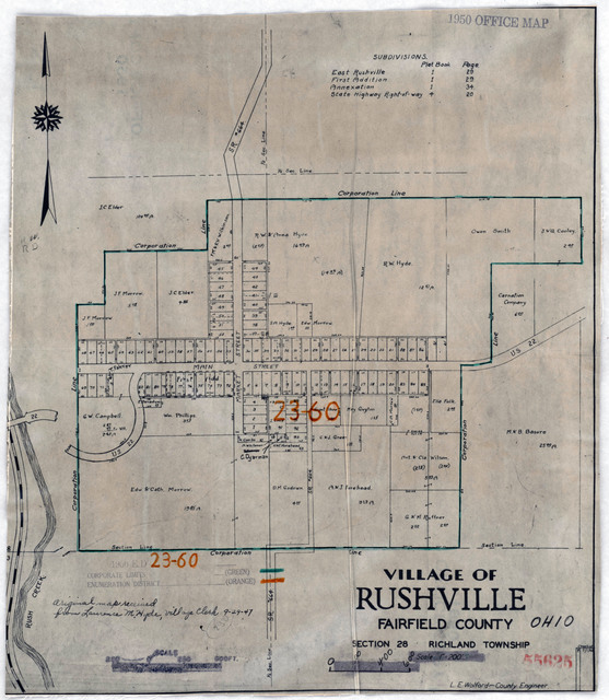 1950 Census Enumeration District Maps Indiana In Rush County