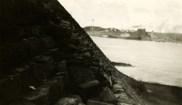 Fort Knox - Stone Wall, Steps - Prospect, Maine