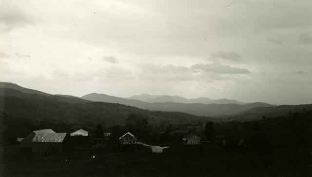 Hubbardton Battlefield - Houses in Foreground - Castleton, Vermont