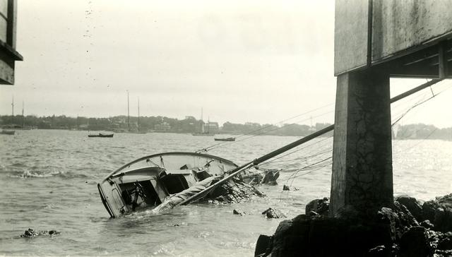 Marblehead Waterfront after Hurricane - Marblehead, Massachusetts