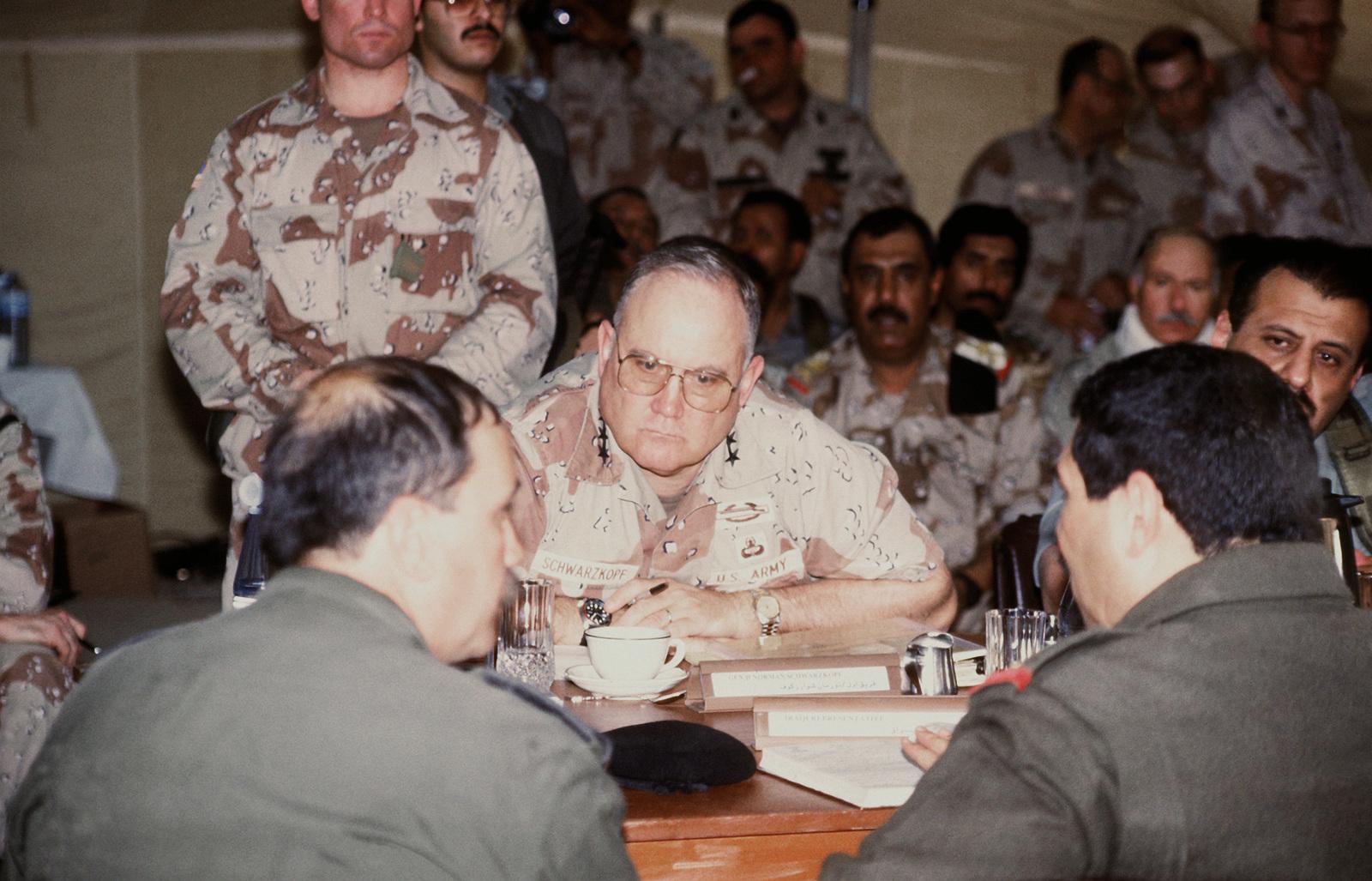 GEN  H  Norman Schwarzkopf, commander-in-chief, U S  Central