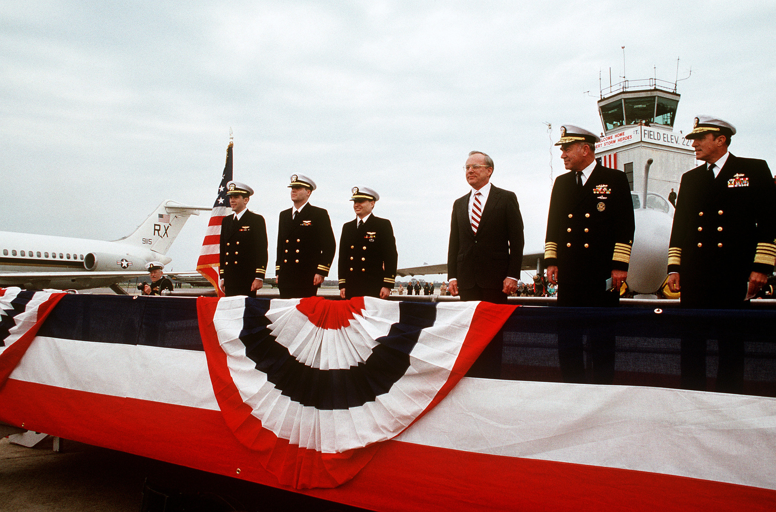 As They Depart The Platform After A Ceremony In Their Honor Lt