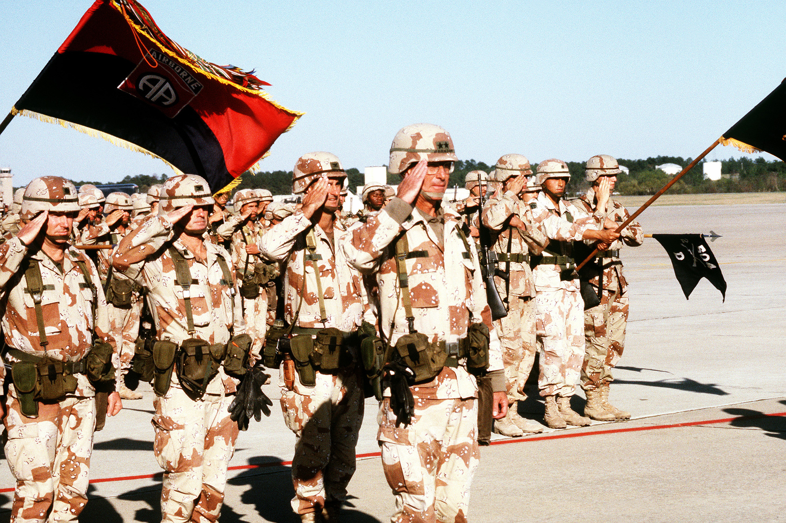 Elements of the 82nd Airborne Division, with commanding officer MAJ