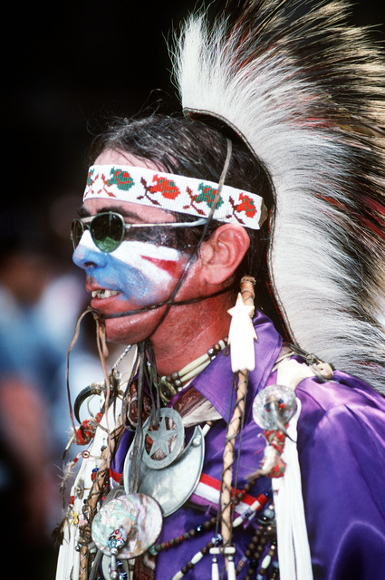American Indians marching in the Welcome Home parade honoring the men and women who served in Desert Storm