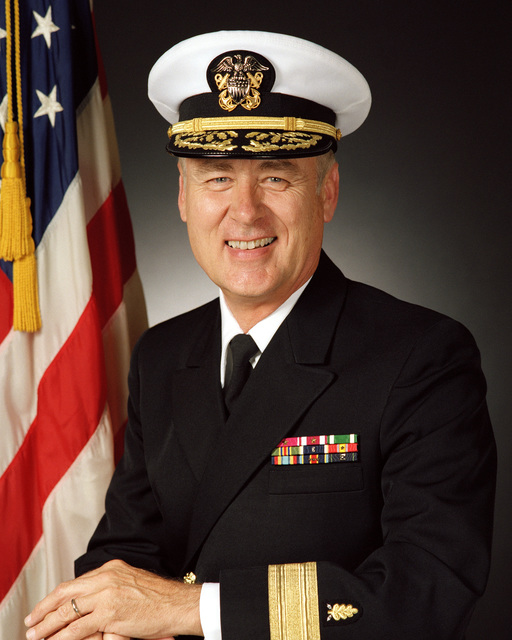 Rear Admiral (lower half) Ronald P. Morse, USN (covered)