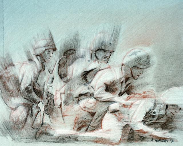 "Artwork: ""Struggle to Win"". Artist: SGT. Adam Glenday, Catalog Number: 10.24.90"