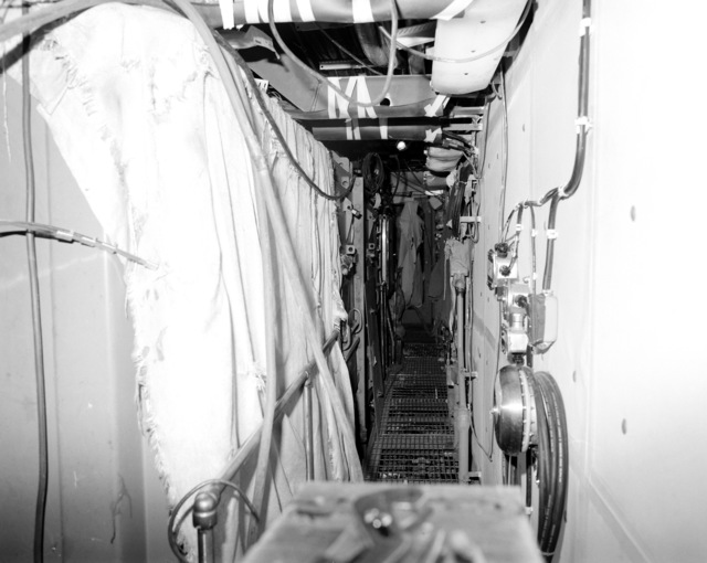 The ship's service generator No. 3 room on the guided missile cruiser LAKE ERIE (CG-70) at 80 percent completion of construction