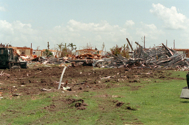 A view of the devastation in the aftermath of Hurricane Andrew