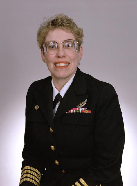 Rear Adm. (lower half) Katherine L. Laughton, USN selectee (uncovered)
