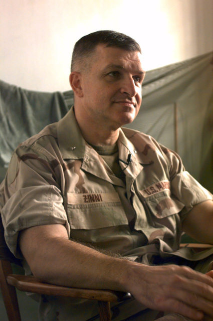 An informal portrait of Brig. GEN. Anthony Charles Zinni, USMC, J3 for the Combined Unified Task Force (CUTF) Somalia
