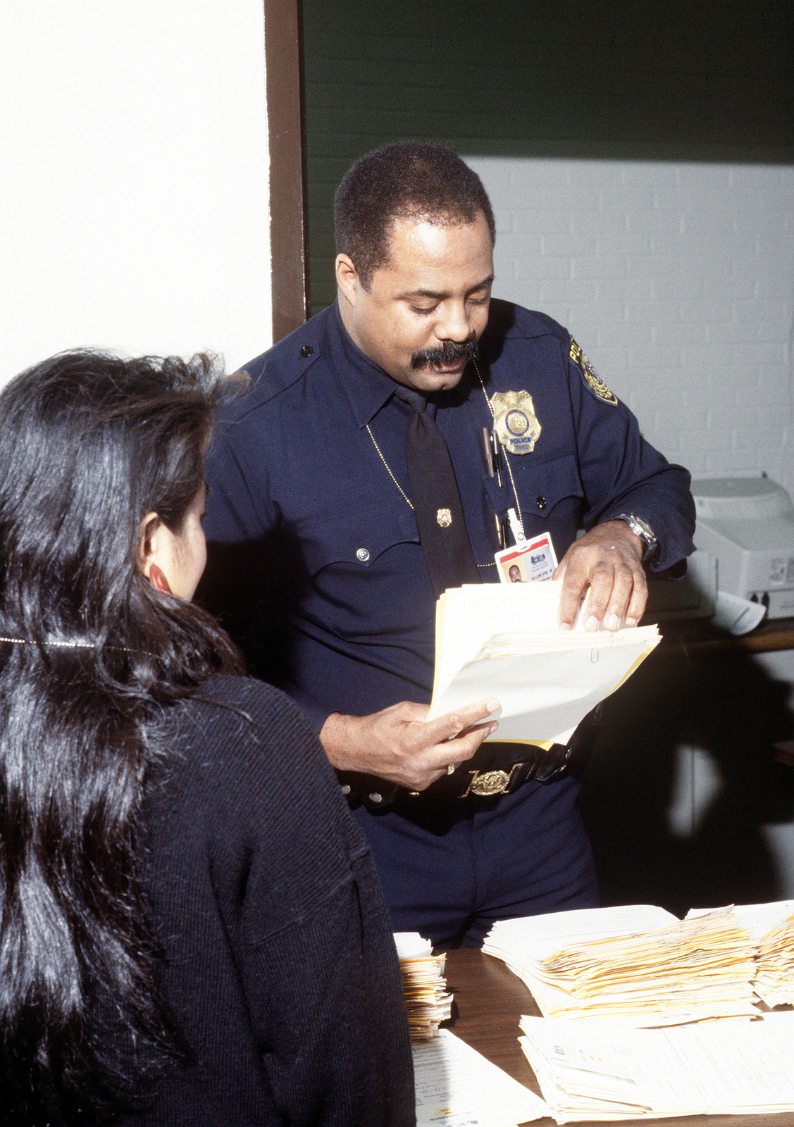 Armed Forces Inaugural Committee Behind the Scenes. Identification badges being processed at building 159 for access to the Presidential Inaugural Committee (PIC) and the Armed Forces Inaugural Committee (AFIC) buildings