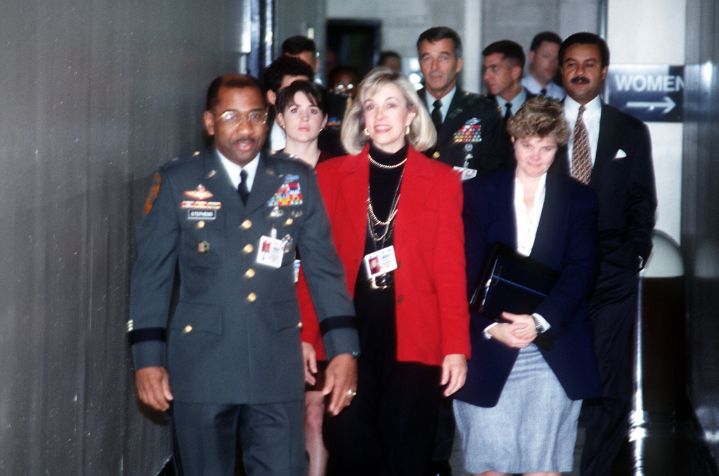 Armed Forces Inaugural Committee behind the scenes. BGEN Robert L. Stephens, and members of the Presidential Inaugural Committee (PIC) visit the Military Assistance and Protocal
