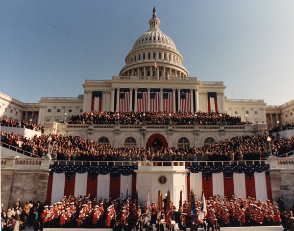 Photograph of President William J. Clinton's First Inauguration