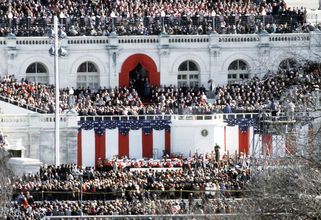 Senators, House Representatives and special invited guests were in attendance and seated on the west side of the Capitol building to observe the Inauguration of President elect Clinton