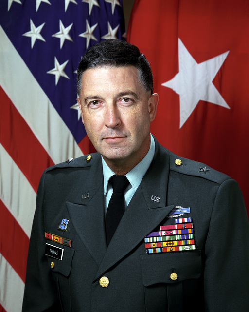 Portrait of U.S. Army Brig. Gen. Trent N. Thomas Associate Deputy Director for Operations (Military Support), National Security Agency (Uncovered) (U.S. Army photo by Mr. Russell F. Roederer)(U.S. Army photo by Mr. Scott Davis)(U.S. Army photo by Mr. James E. Jackson)(Official U.S. Army photograph)