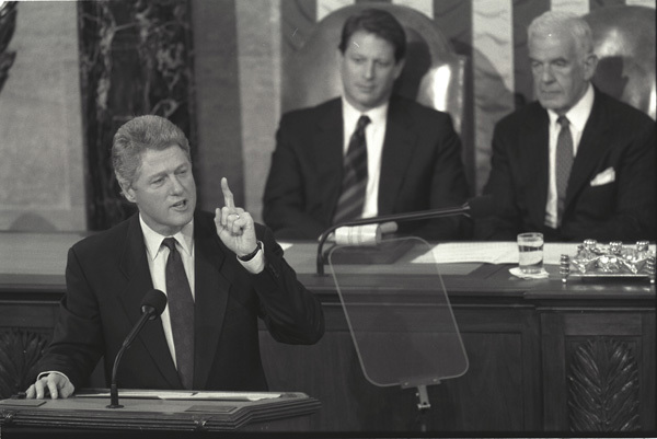 Photograph of President William J. Clinton Addressing a Joint Session of Congress