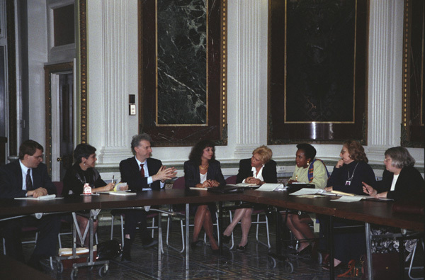 Photograph of a Health Care Meeting with the Hispanic Caucus