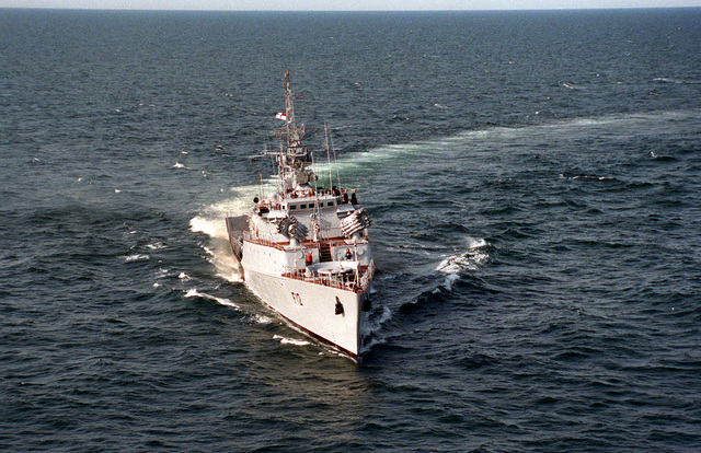 A bow view of a Lithuanian navy Grisha class frigate underway during exercise BALTOPS '93. For the first time in the 22-year history of BALTOPS, the Eastern European countries of Estonia, Latvia, Lithuania, Poland and Russia were invited to participate in the non-military phases of the exercise