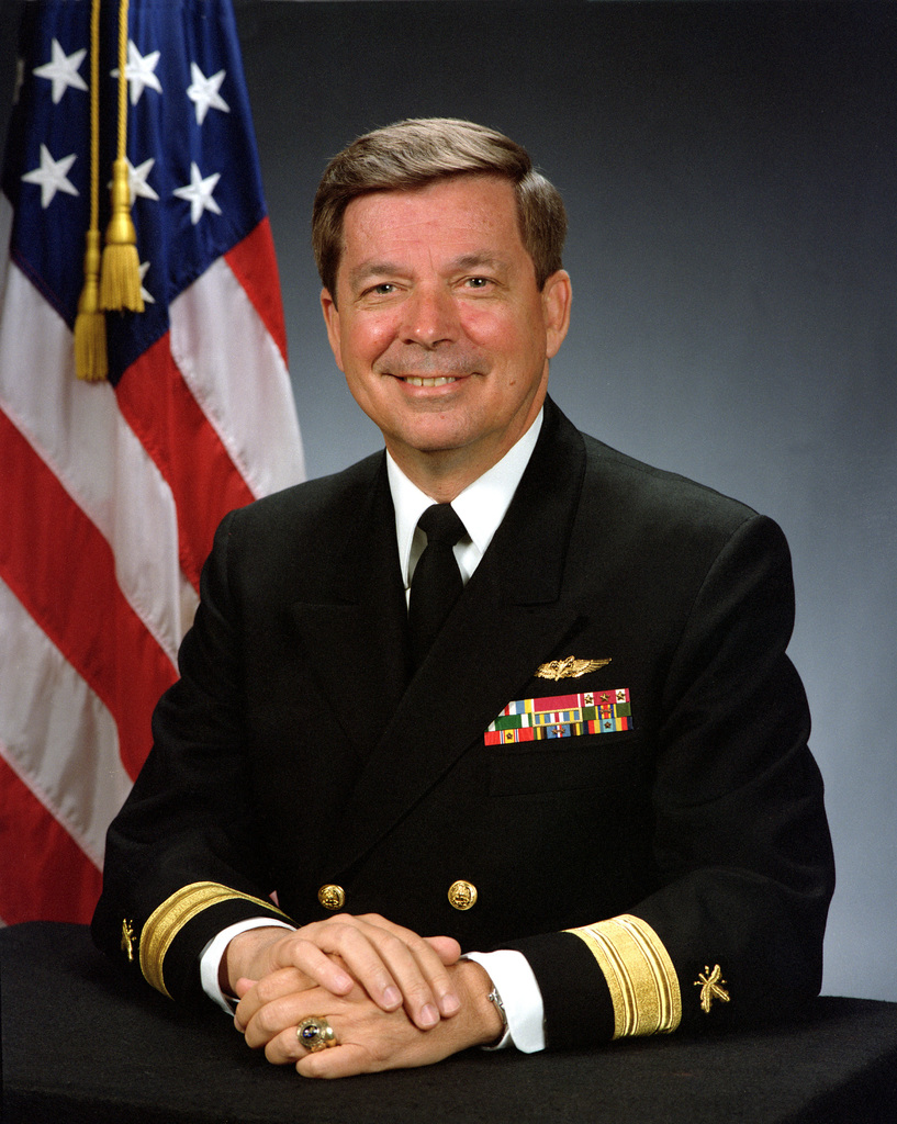 Rear Adm. (lower half) Donald E. Hickman, USN (uncovered)