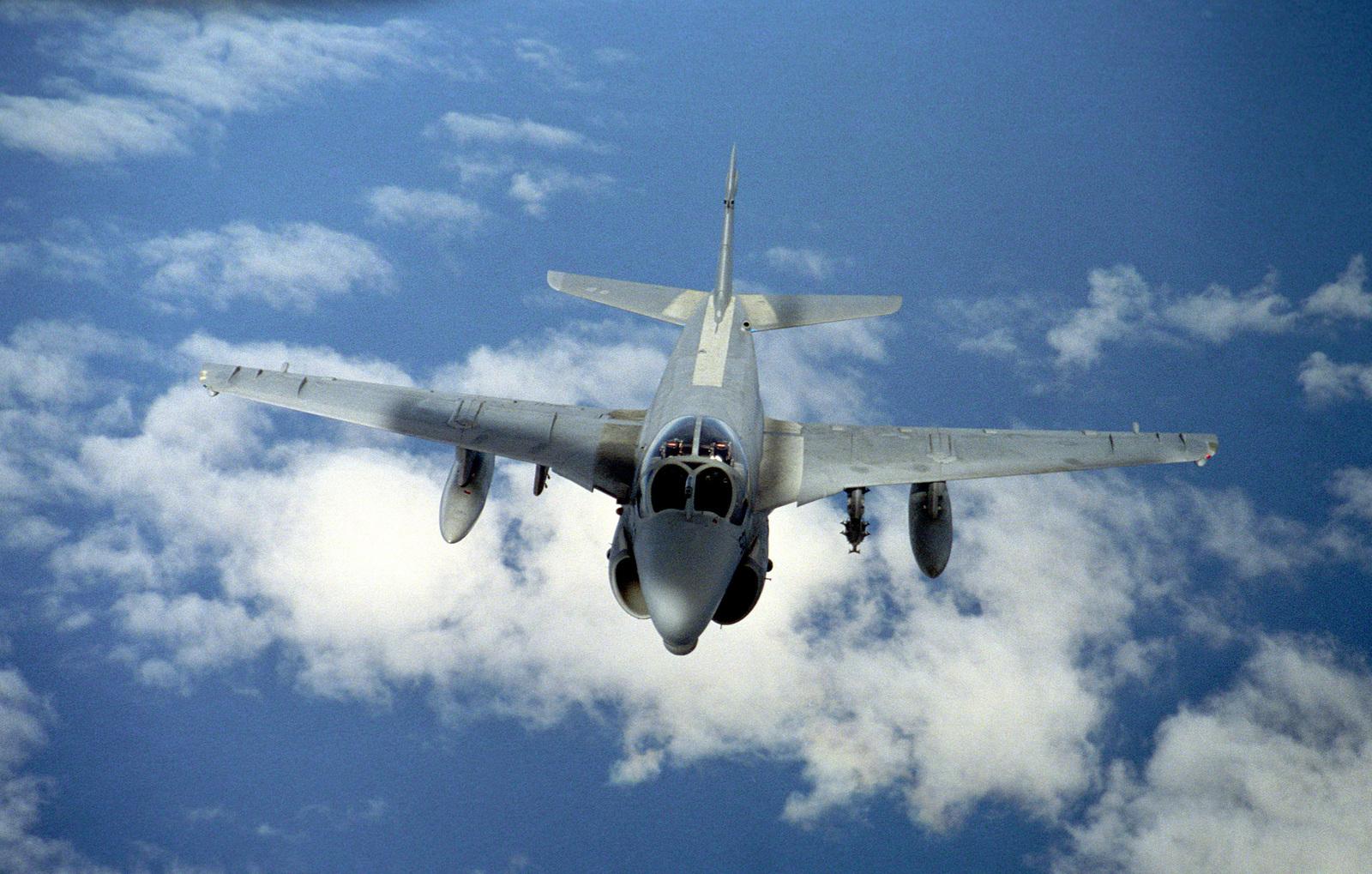 A US Navy (USN) A-6E Intruder in flight