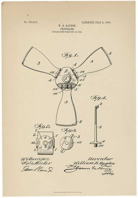 Patent Drawing for a Propeller