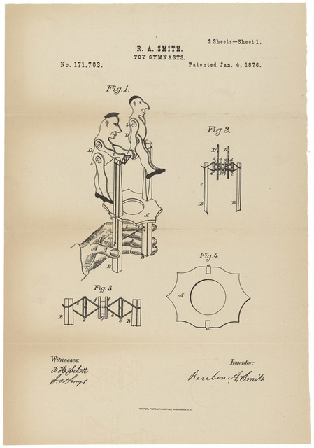 Patent Drawing for a Toy Gymnast