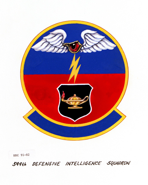 Approved insignia of the 544th Defensive Intelligence